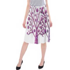 Magical pink trees Midi Beach Skirt