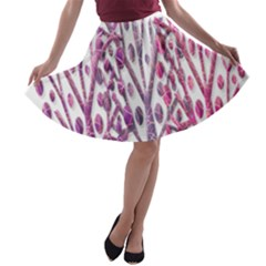 Magical pink trees A-line Skater Skirt