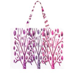 Magical pink trees Large Tote Bag