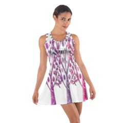 Magical pink trees Cotton Racerback Dress