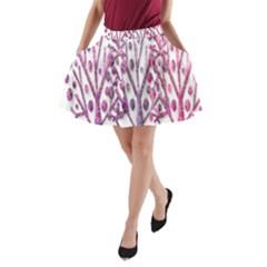Magical pink trees A-Line Pocket Skirt