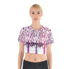 Magical pink trees Cotton Crop Top