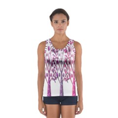 Magical pink trees Women s Sport Tank Top