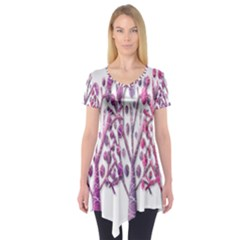 Magical pink trees Short Sleeve Tunic