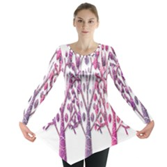 Magical pink trees Long Sleeve Tunic