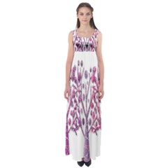 Magical pink trees Empire Waist Maxi Dress
