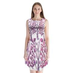 Magical pink trees Sleeveless Chiffon Dress