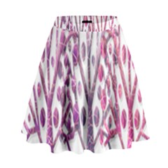 Magical pink trees High Waist Skirt