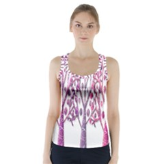 Magical pink trees Racer Back Sports Top