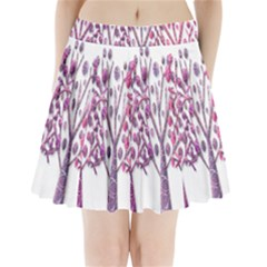 Magical pink trees Pleated Mini Skirt