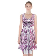 Magical pink trees Racerback Midi Dress