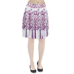 Magical pink trees Pleated Skirt