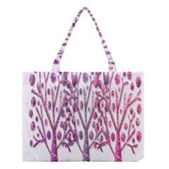 Magical pink trees Medium Tote Bag