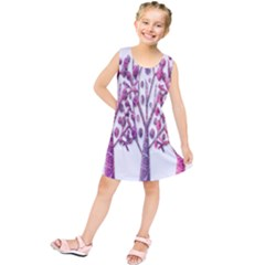 Magical pink trees Kids  Tunic Dress