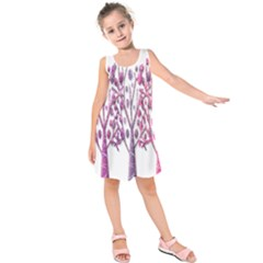 Magical pink trees Kids  Sleeveless Dress