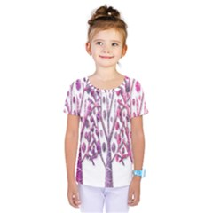 Magical pink trees Kids  One Piece Tee