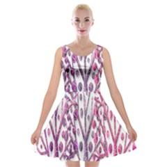Magical pink trees Velvet Skater Dress