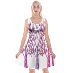 Magical pink trees Reversible Velvet Sleeveless Dress