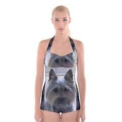 Cairn Terrier Boyleg Halter Swimsuit