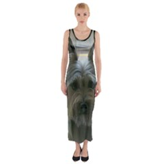 Cairn Terrier Fitted Maxi Dress