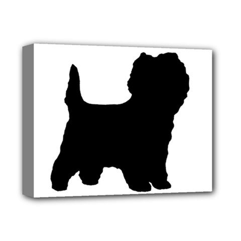 Cairn Terrier Silo Black Deluxe Canvas 14  x 11