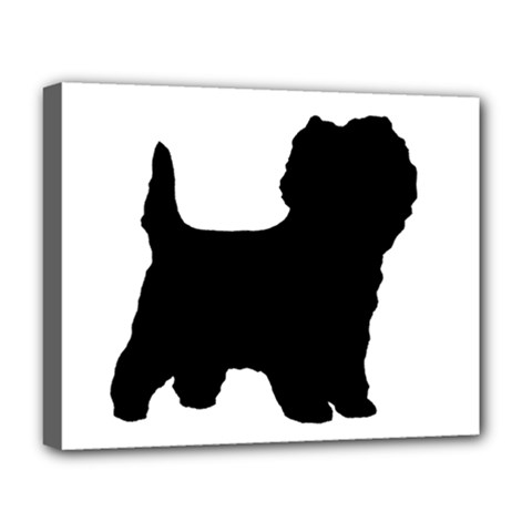 Cairn Terrier Silo Black Deluxe Canvas 20  x 16