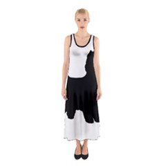 Cairn Terrier Silo Black Sleeveless Maxi Dress