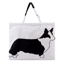 Ccardigan Welsh Corgi Silo Color Zipper Large Tote Bag