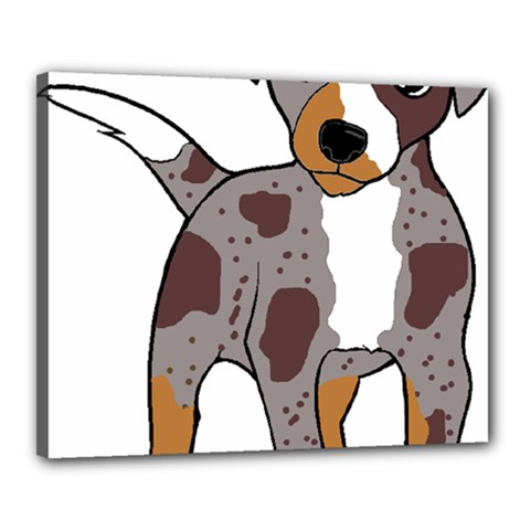 Catahoula Red Cartoon Canvas 20  x 16