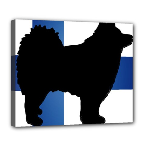 Finnish Lapphund Silo Flag Finland Deluxe Canvas 24  x 20