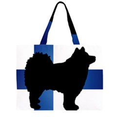 Finnish Lapphund Silo Flag Finland Large Tote Bag