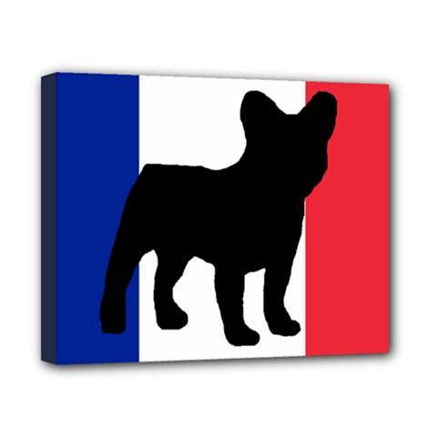 French Bulldog Silo France Flag Canvas 10  x 8