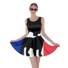 French Bulldog Silo France Flag Skater Dress