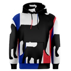 French Bulldog Silo France Flag Men s Pullover Hoodie