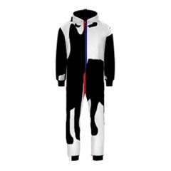 French Bulldog Silo France Flag Hooded Jumpsuit (Kids)