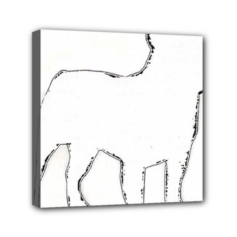 French Bulldog Silo Mini Canvas 6  x 6