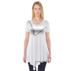 Havanese Silo Color Short Sleeve Tunic