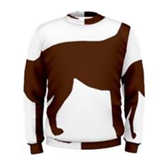Labrador Retriever Choco Color Silo Men s Sweatshirt