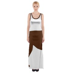 Labrador Retriever Choco Color Silo Maxi Thigh Split Dress