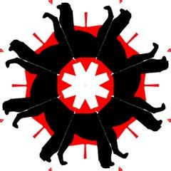 Labrador Retriever Silo Canadian Flag Hook Handle Umbrellas (Medium)