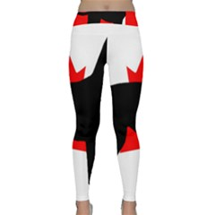Labrador Retriever Silo Canadian Flag Classic Yoga Leggings