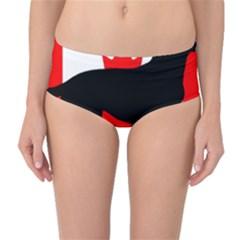 Labrador Retriever Silo Canadian Flag Mid-Waist Bikini Bottoms