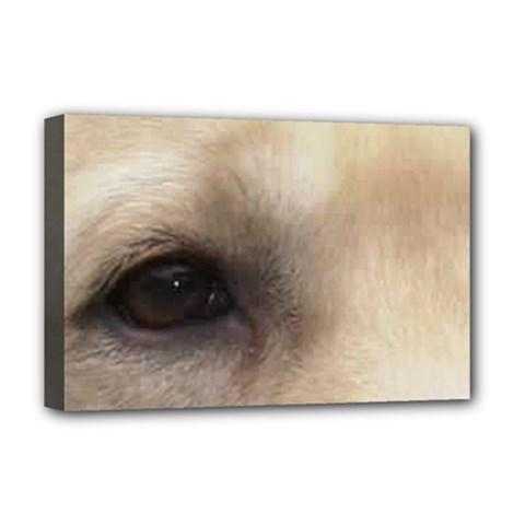 Yellow Labrador Eyes Deluxe Canvas 18  x 12