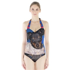 Min Pin In Sweater Halter Swimsuit