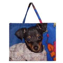 Min Pin In Sweater Zipper Large Tote Bag