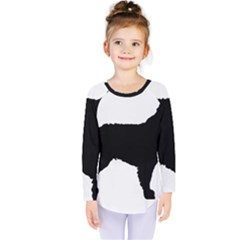 Mudi Fekete Silhouette Kids  Long Sleeve Tee