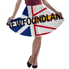 Newfoundland Name Flag A-line Skater Skirt