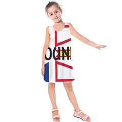 Newfoundland Name Flag Kids  Sleeveless Dress