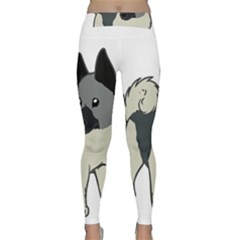 Norwegian Elkhound Cartoon Classic Yoga Leggings