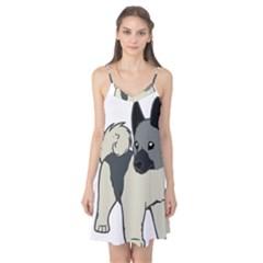 Norwegian Elkhound Cartoon Camis Nightgown